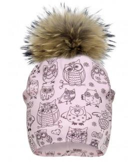 Tuque de coton avec pompon raton amovible pour enfant, 2124_pn, de 12 mois à 9 ans