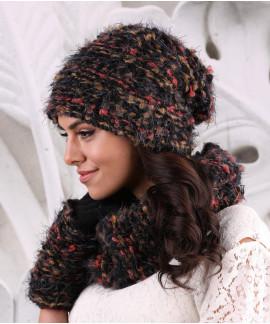 CARINI, chapeau d'hiver doublé en polar pour femme